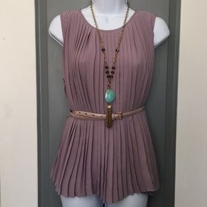 Gorgeous accordion pleated top